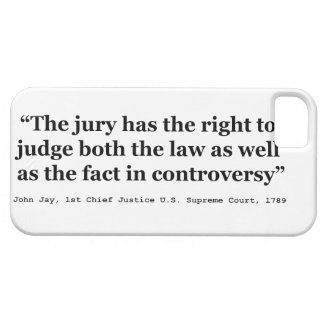 Trial Juries Quote by Justice John Jay 1789 Barely There iPhone 5 Case