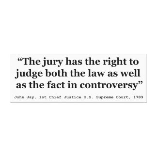 Trial Juries Quote by Justice John Jay 1789 Canvas Print