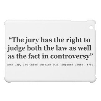 Trial Juries Quote by Justice John Jay 1789 iPad Mini Cover