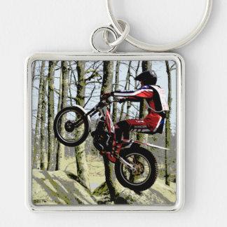 Trials rider keychain