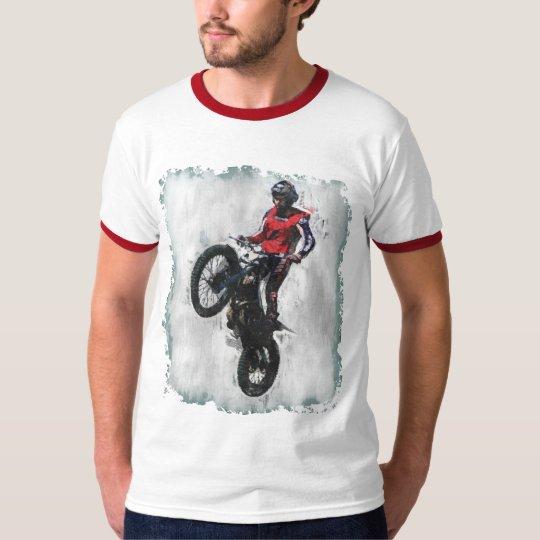 Trials rider ringer t-shirt