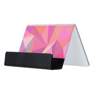 Triangle abstract desk business card holder
