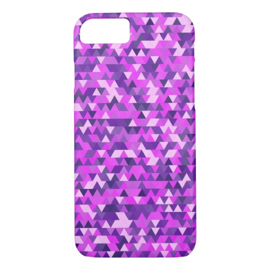 Triangle abstract magenta and violet pattern iPhone 8/7 case