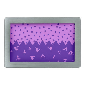 Triangle and  Circles Rectangular Belt Buckle