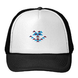 Triangle Bird Design Turquoise and Dark Red Cap