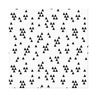 Triangle Black White Minimal Scandi /Andrea Lauren Canvas Print