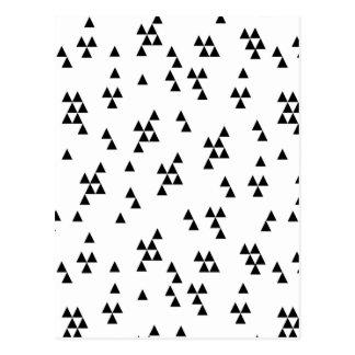 Triangle Black White Minimal Scandi /Andrea Lauren Postcard