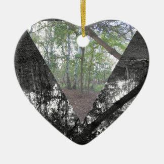 Triangle Ceramic Heart Decoration