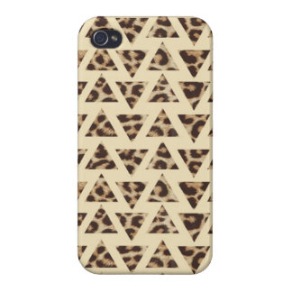 Triangle Cheetah Print iPhone 4/4s Case