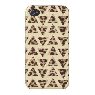 Triangle Cheetah Print iPhone 4 4s Case
