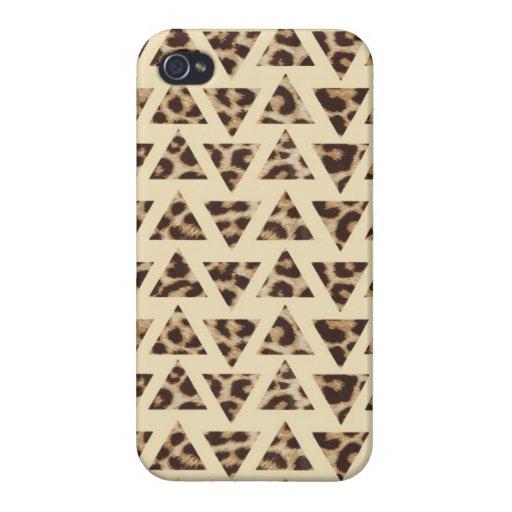 Triangle Cheetah Print iPhone 4/4s Case