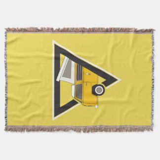 triangle classic yellow bus throw blanket