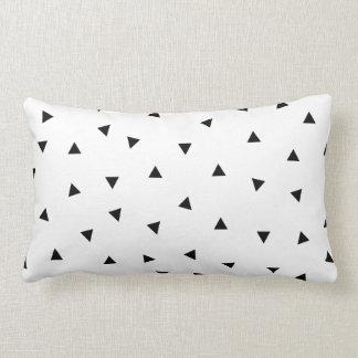 triangle geo rectangle shape // black + white throw cushion