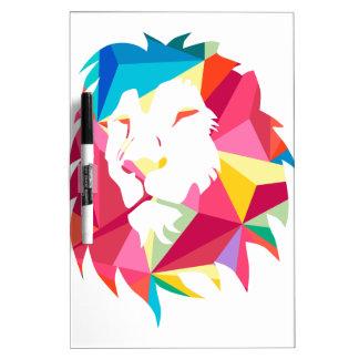 Triangle Geomatric Lion Dry Erase Board