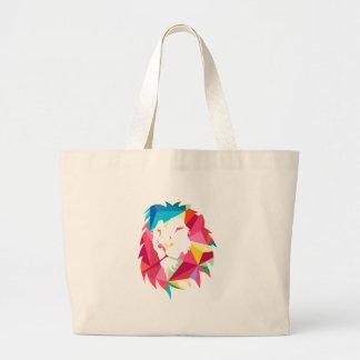 Triangle Geomatric Lion Jumbo Tote Bag