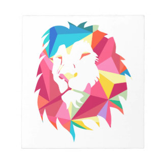 Triangle Geomatric Lion Notepad
