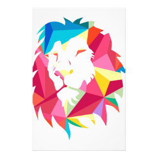 Triangle Geomatric Lion Stationery