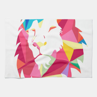 Triangle Geomatric Lion Tea Towel