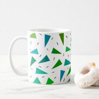Triangle geometric, modern pattern coffee mug