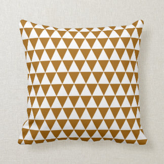 Triangle Geometric Pattern in Caramel Cushion