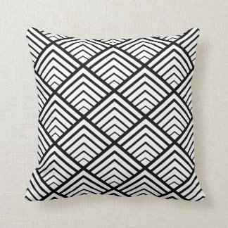 Triangle geometric pattern seamless throw pillow