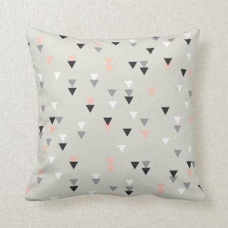Triangle geometric pillow pink and grey
