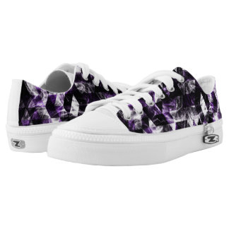 Triangle Geometric Purple Smoky Galaxy Low Tops