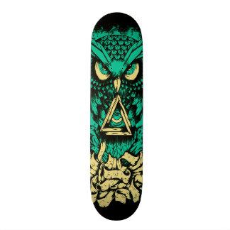 Triangle Green Owl Skate 20 Cm Skateboard Deck