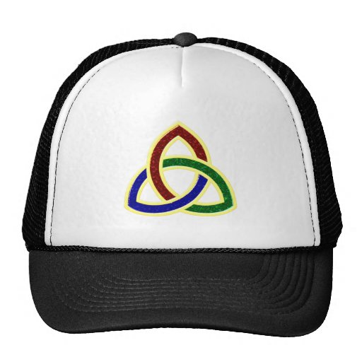 Triangle intertwined trifishes interwoven mesh hats