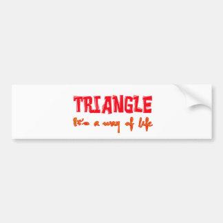 Triangle It's a way of life Bumper Sticker