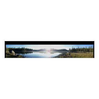 Triangle Lake at Dawn with Title Border Poster