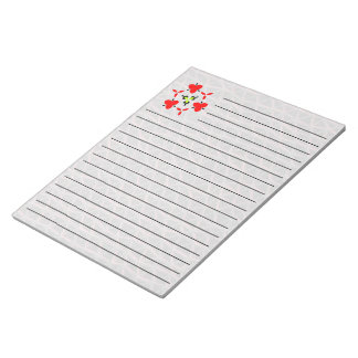 Triangle line pattern notepad