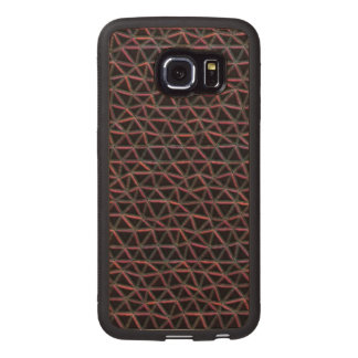 Triangle line pattern wood phone case
