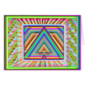 Triangle Mandala Art - HappyBirthday HappyHoliday Card