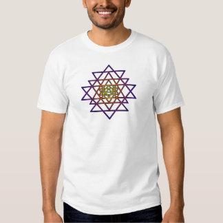 Triangle Mandala (yellow purple) Sri Yantra T-shirt