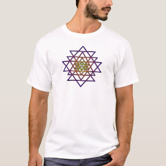 Triangle Mandala (yellow purple) Sri Yantra T-Shirt