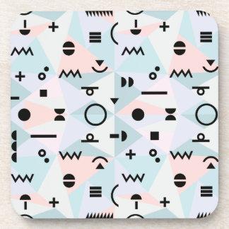 Triangle memphis symbol pattern coaster