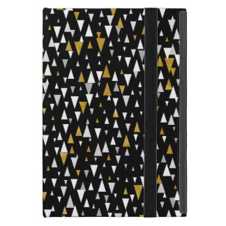 Triangle Modern Art - Black Gold Case For iPad Mini