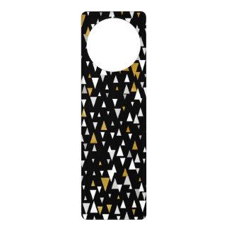 Triangle Modern Art - Black Gold Door Hanger
