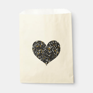 Triangle Modern Art - Black Gold Favour Bags
