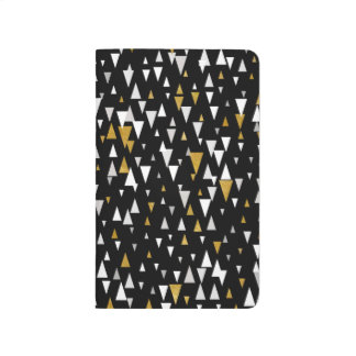 Triangle Modern Art - Black Gold Journal