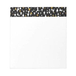 Triangle Modern Art - Black Gold Notepad
