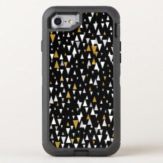 Triangle Modern Art - Black Gold OtterBox Defender iPhone 8/7 Case