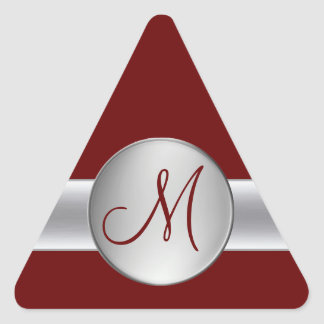 Triangle monogram sticker