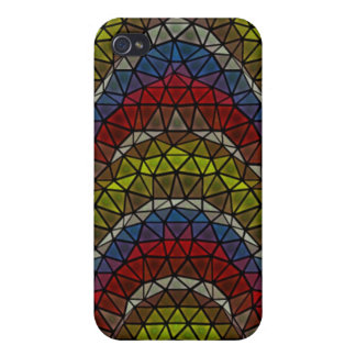 Triangle mosaic pern case for iPhone 4