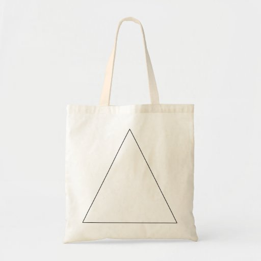 Triangle Outline (Mini Tote) Budget Tote Bag