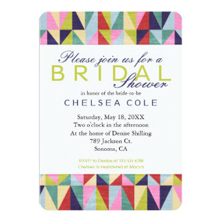 Triangle Pop Art 13 Cm X 18 Cm Invitation Card