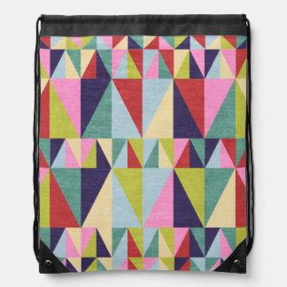 Triangle Pop Art Drawstring Bag