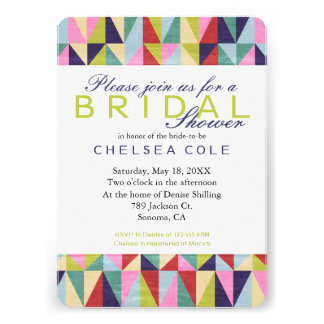 Triangle Pop Art Personalized Announcements