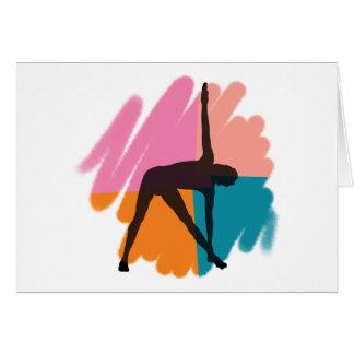 Triangle Pose Yoga Gift Greeting Card